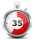De Buteyko Controle Pauze is 35 seconden