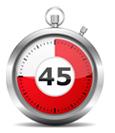 De Buteyko Controle Pauze is 45 seconden
