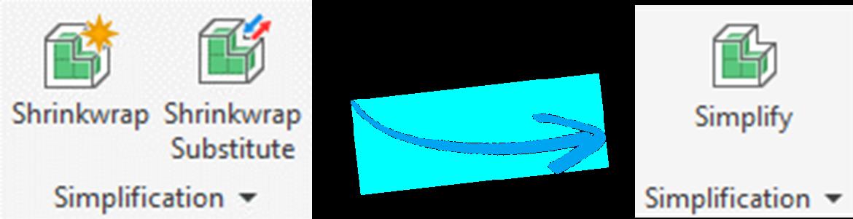 Shrinkwrap vervangt simplify