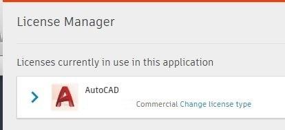 Klik op Change License Type.