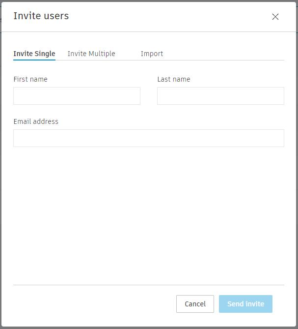 Drie mogelijkheden om gebruikers toe te voegen.