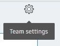 Team settings selecteren