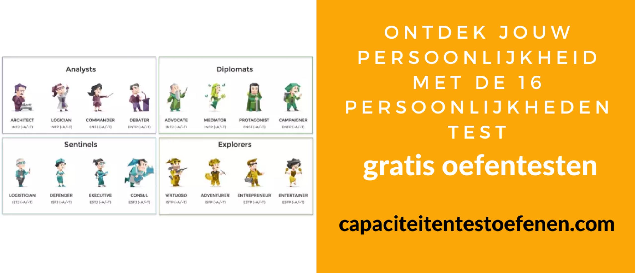 Ontdek jouw persoonlijkheid met de 16 persoonlijkheden test