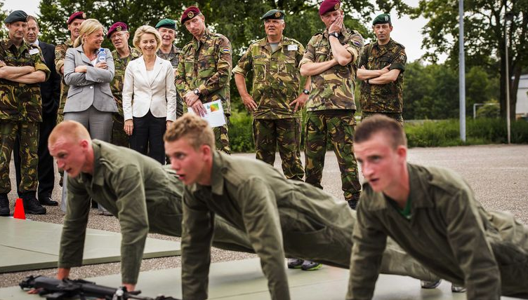militairen training voor defensie sporttest