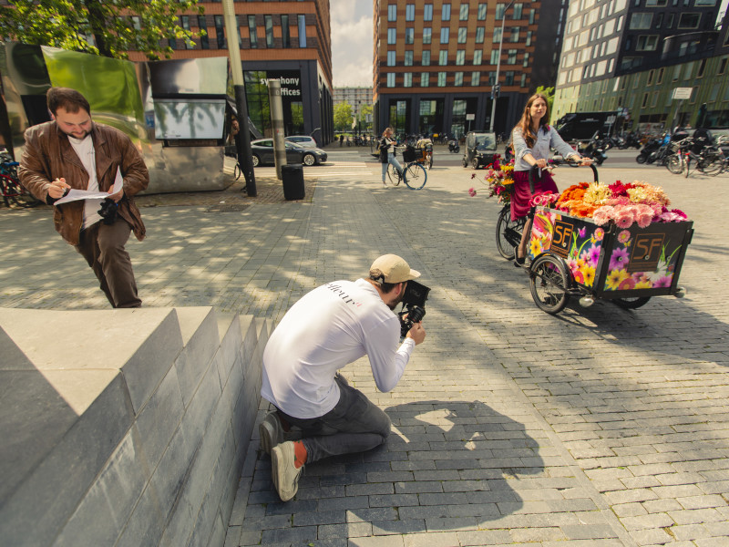 Cinefleur behind the scenes Amsterdam Gerbera