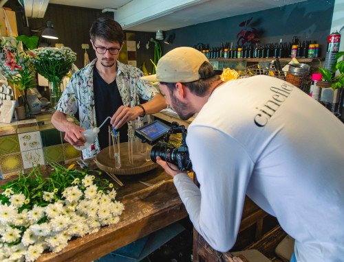Cinefleur behind the scenes Amsterdam Florist