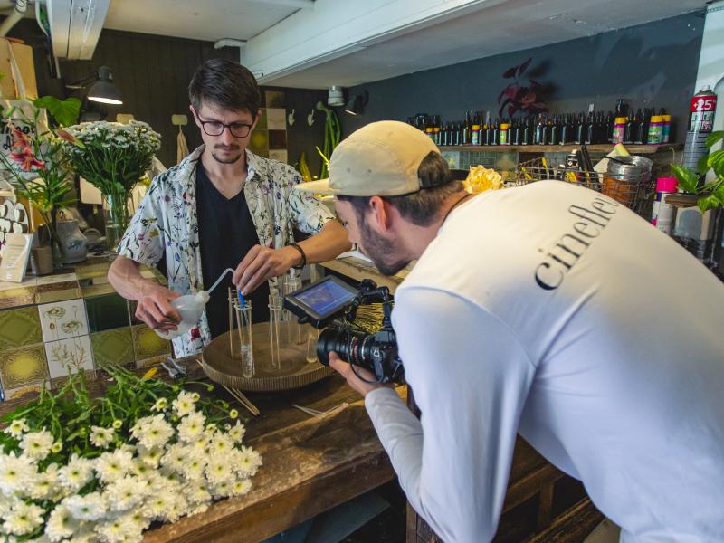 Cinefleur behind the scenes Amsterdam Florist