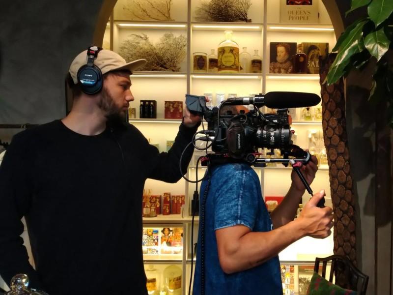 Cinefleur behind the scenes Milan