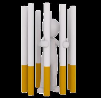 roken en gevangen zijn