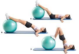 hamstrings - swiss ball