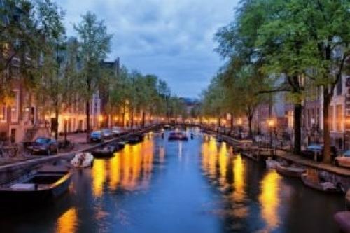 Afbeelding van de stad Amsterdam (Amsterdamse Grachten)