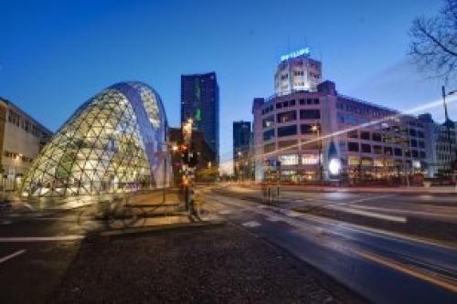 Afbeelding van de stad Eindhoven (De Blob)