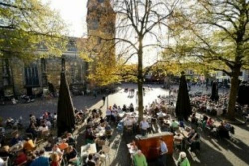 Afbeelding van de stad Enschede (de Oude Markt)
