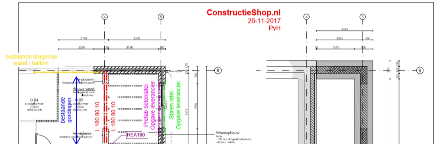 Voorbeeld constructietekening