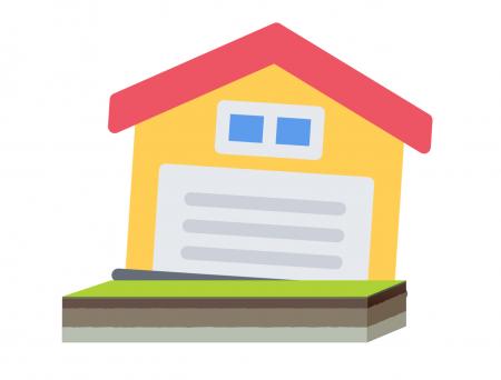 Illustratie verzakking huis