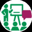icoon de-corporatiestrateeg-seminars-en-congressen