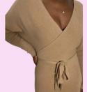 Comfy dress nude Fashion Kartel