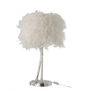 White FLuffy Lamp