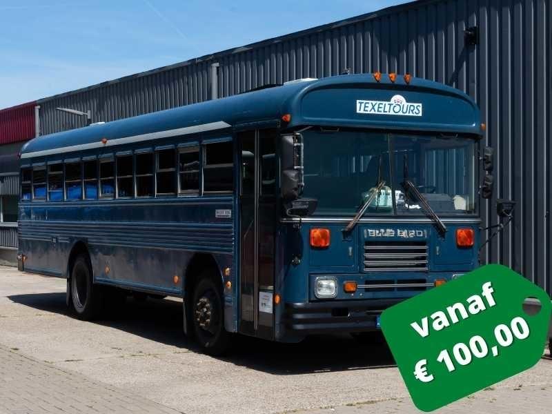 Amerikaanse schoolbus texel
