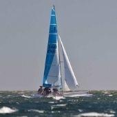 catamaran zeilen op texel
