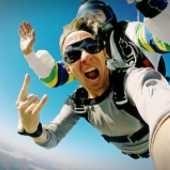 parachute springen boven texel