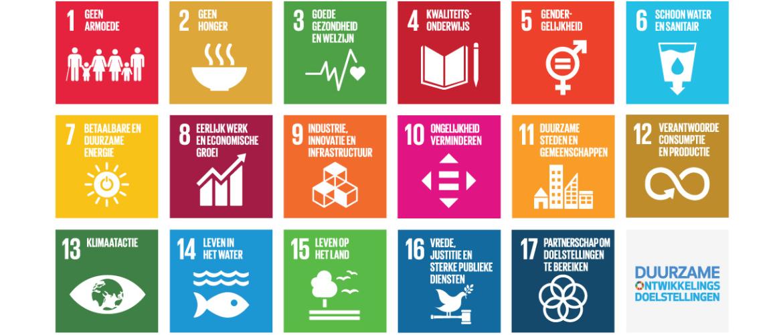 De Sustainable Development Goals. Doel 13 t/m doel 17.