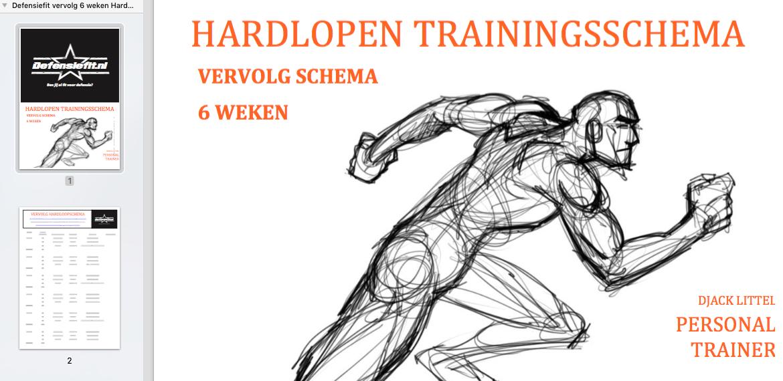 hardloopschema beginners 3x per week