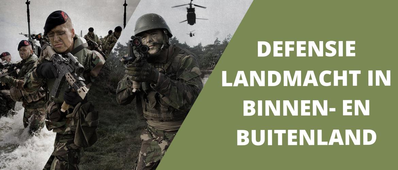 Defensie landmacht in binnen- en buitenland