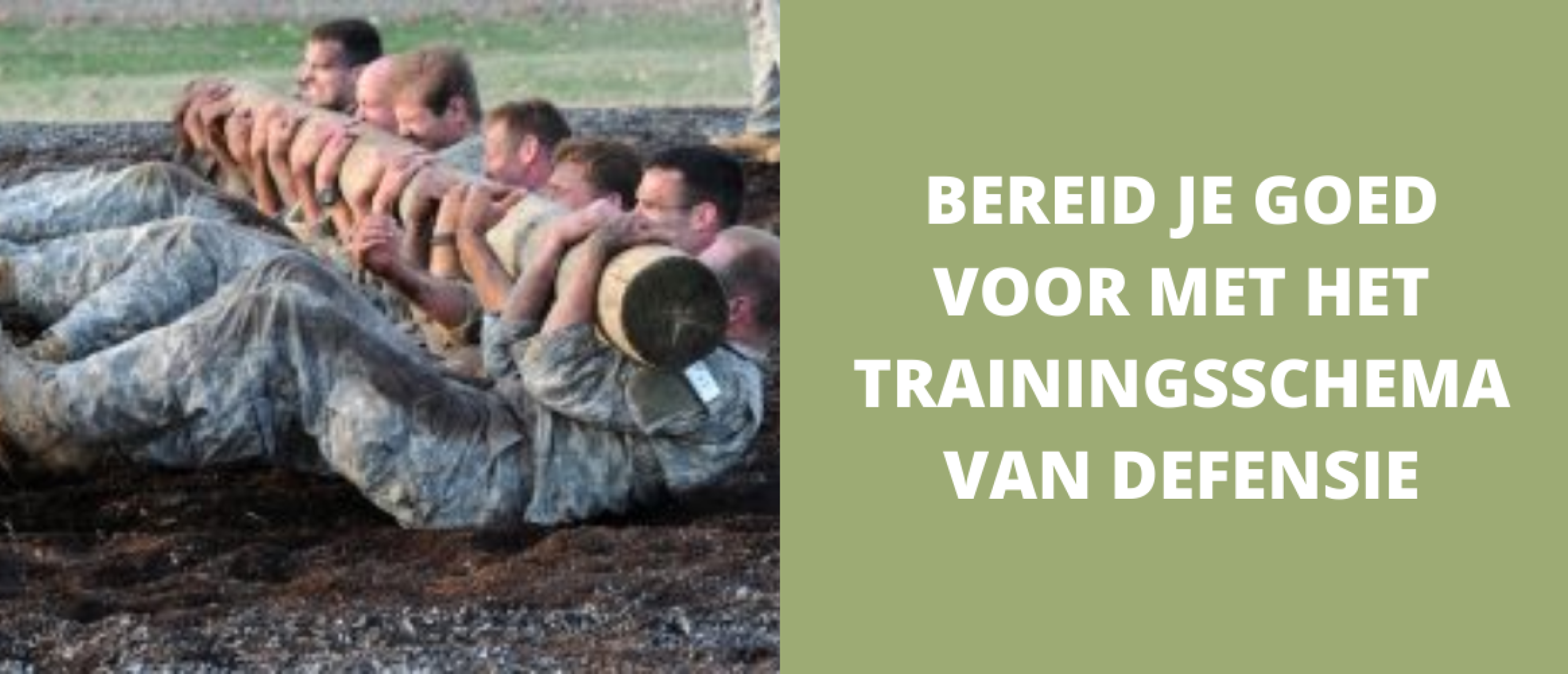 Bereid je goed voor met het trainingsschema van Defensie