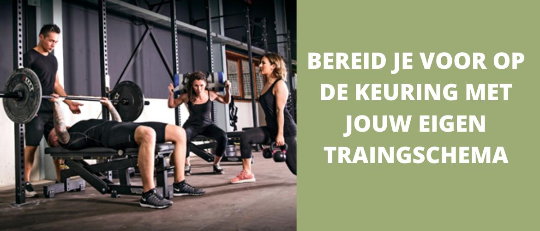 Bereid je voor op de keuring met jouw eigen trainingschema!