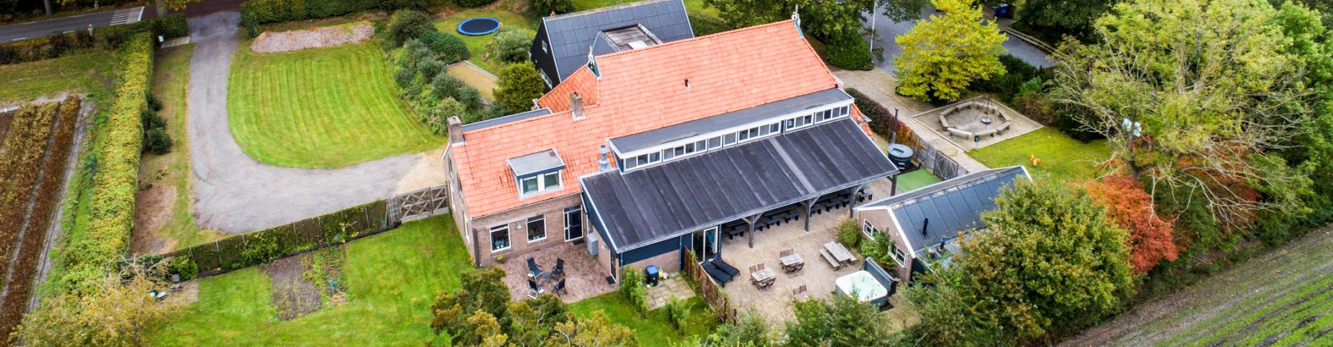 Groepsaccommodatie in Friesland de friese ardennen vanaf boven