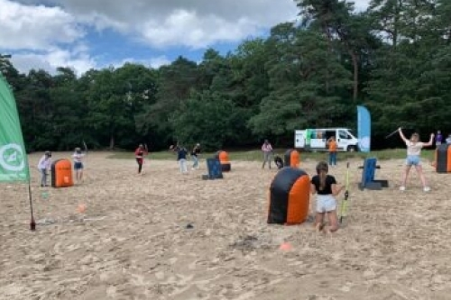 Archery Tag in het Drents-Friese Wold