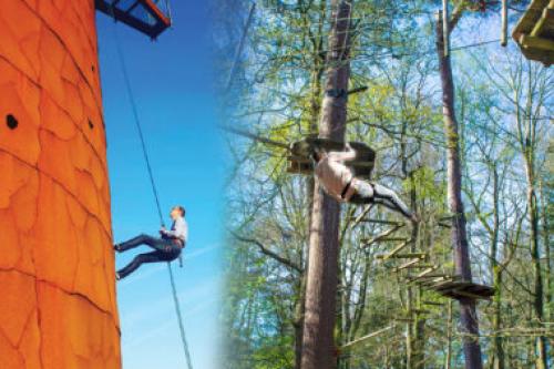 Kom jij met je team abseilen van de bosbergtoren?
