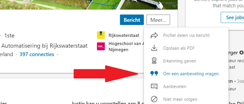Referentie vragen via LinkedIn