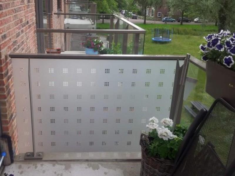 Dusted Glass raamfolie buiten