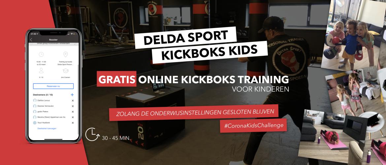 Delda Kickboks Kids: Kinderen gratis online sporten onder begeleiding tijdens de Corona Crisis