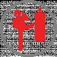 Icoon die zaktraining laat zien (personal training)