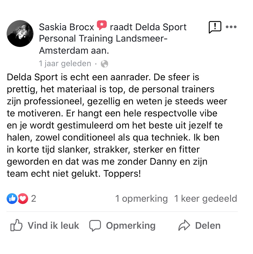Facebook review kickboksen Amsterdam