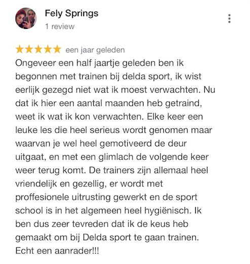 Google review kickboksen Amsterdam