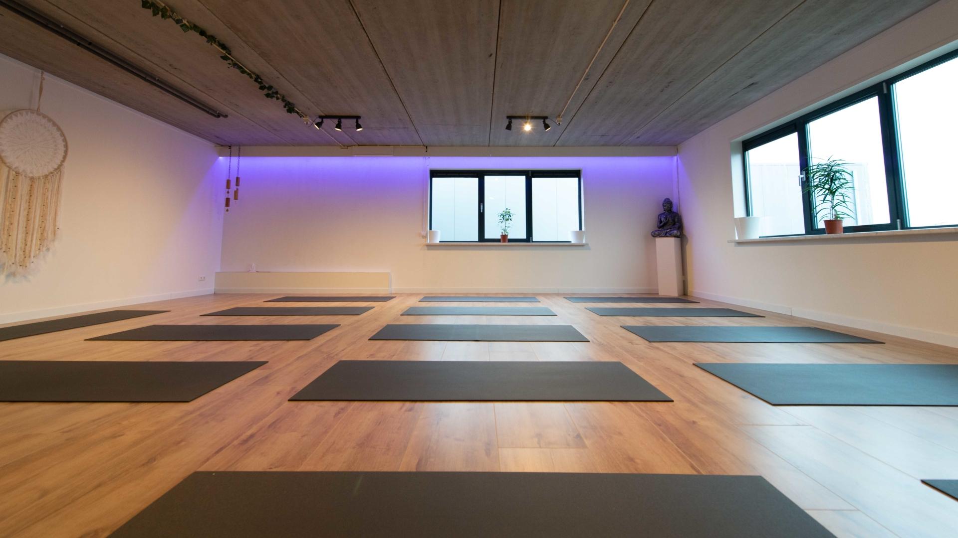 Yoga zaal met matten in Oostvoorne