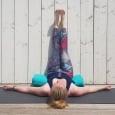 Gebroken kaars - viparita karani - yoga houding met benen tegen de muur