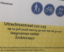 aanvraag parkeerontheffing voor ontruiming Amsterdam