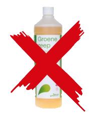 Bestrating schoonmaken groene zeep