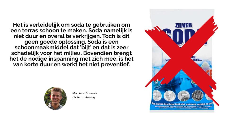 korstmos verwijderen met Soda
