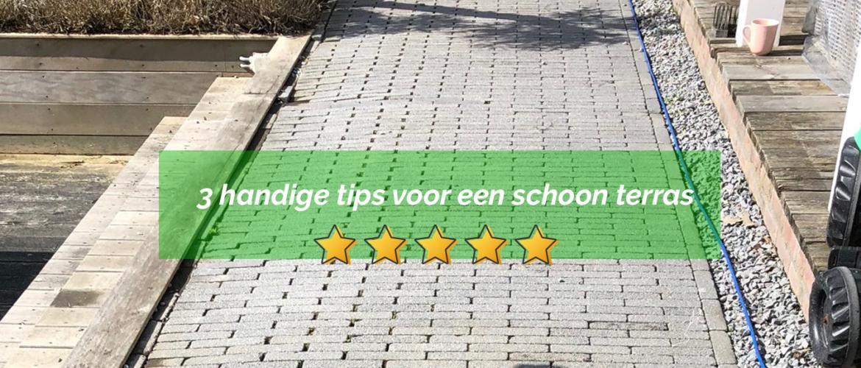 3 handige tips voor een schoon terras