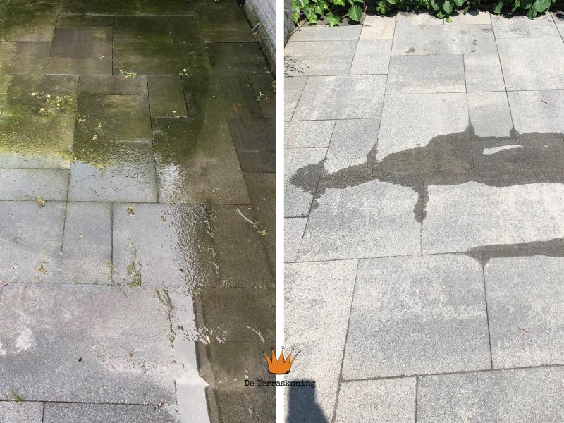 Stenen reinigen - Stenen schoonmaken - projecten - De Terraskoning