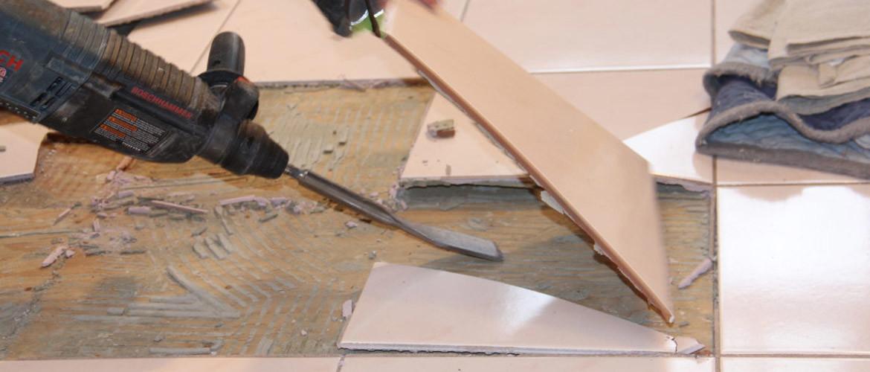 Tegelvloer verwijderen