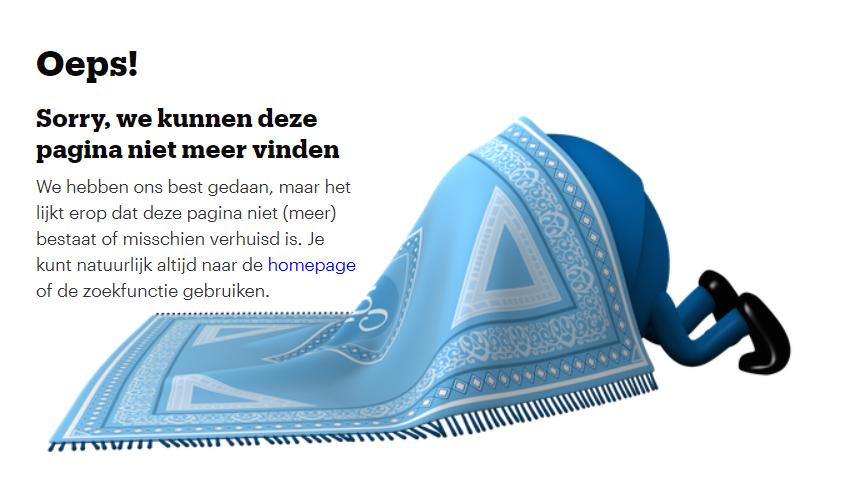 404-pagina van Bol.com