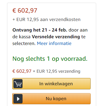 Amazon voorraad