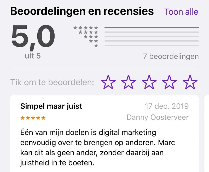Podcast reviews op Apple